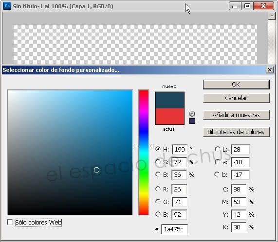Cambiar el color de fondo