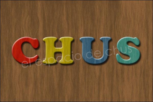 Letras de madera con Photoshop