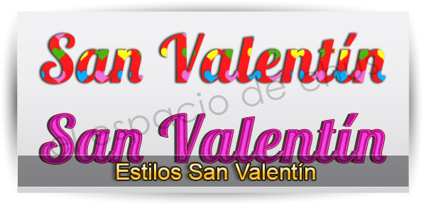 Estilos San Valentín