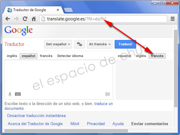 Insertar Google Translate