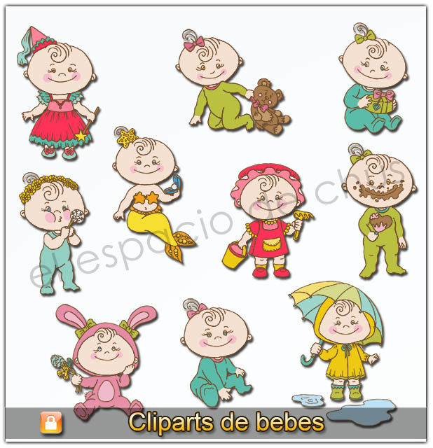Cliparts de bebes #04