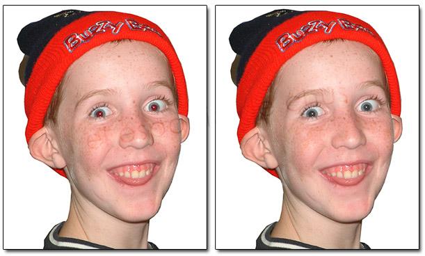 Corregir ojos rojos en Photoshop y Camera Raw