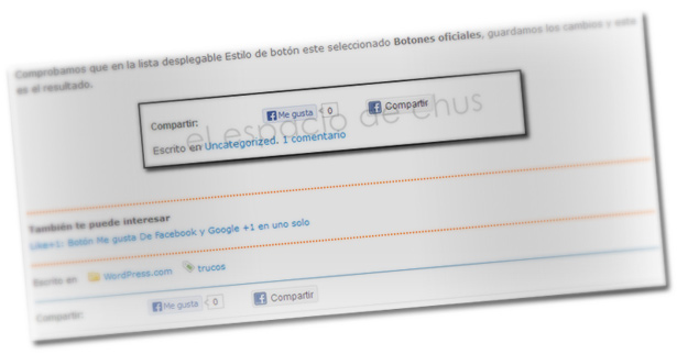 Botones Compartir y Me gusta de Facebook en WordPress.com