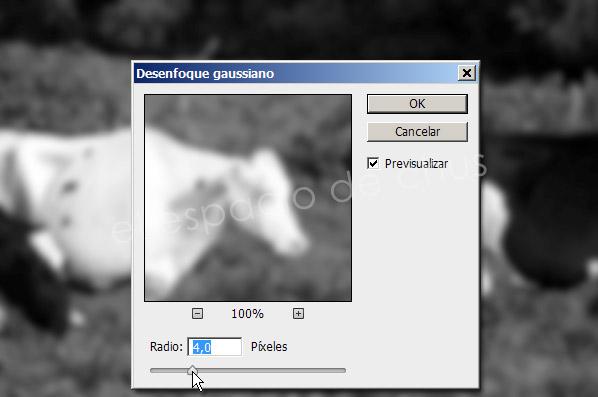 Mapa de desplazamiento con Photoshop- Desenfoque gaussiano