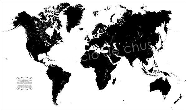 Mapa de desplazamiento con Photoshop- Mapamundi 0