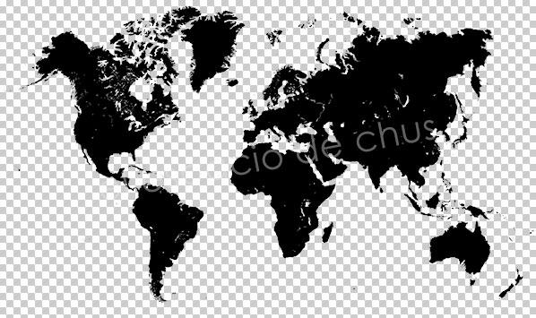 Mapa de desplazamiento con Photoshop- Mapamundi