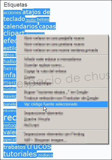 Seleccionar código fuente con Firefox
