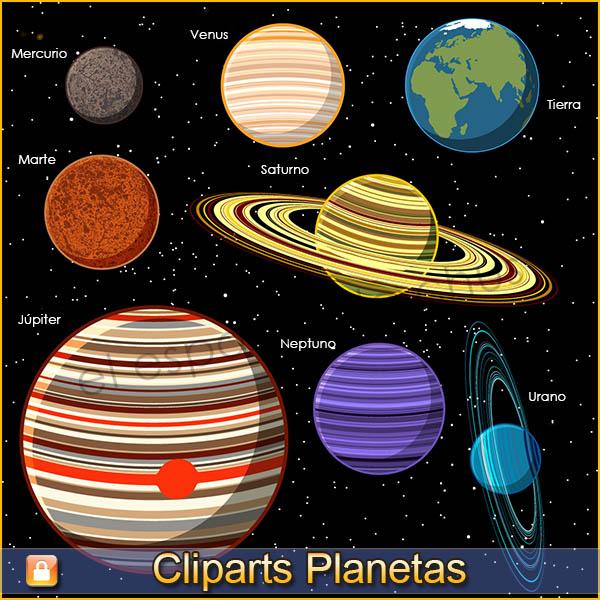 Cliparts Planetas