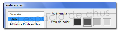 Cambiar el color de la interfaz de Photoshop CS6
