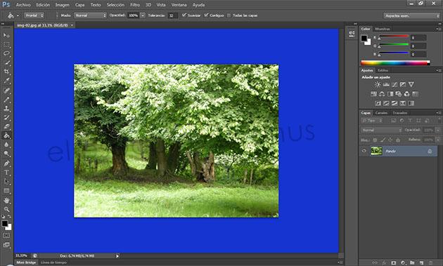 Cambiar fondo blanco a negro en photoshop
