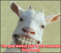 The goat always pulls to the mountain Blog Award