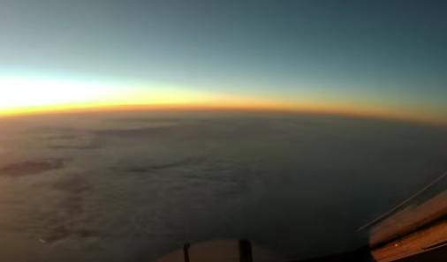 Time-lapse de un vuelo de avión de Tokio a San Francisco