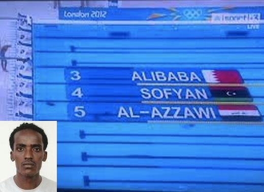 Khalid Ismael Ali Baba - nadador de Bahrain