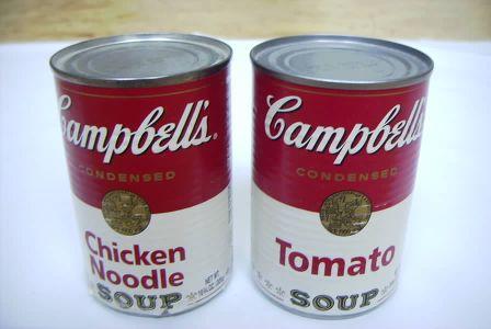 Latas de sopa Campbell