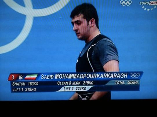 Saeid Mohammadpourkarkaragh - Halterófilo iraní