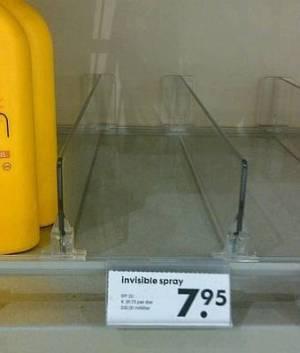 Spray invisible