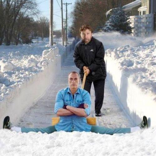 Quitando la nieve / Snow plowing