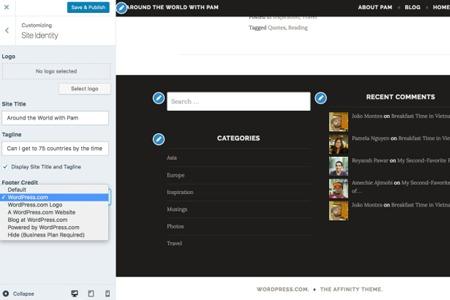 Personaliza los créditos al pie de página de tu blog alojado en WordPress.com