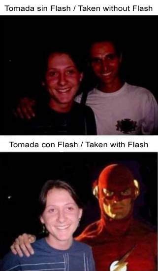 Diferencia entre una foto sin flash y con flash / The difference between photo taken without flash and with flash