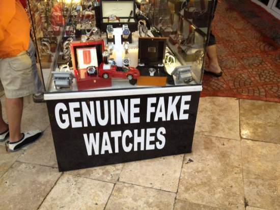 Auténticos relojes falsos / Genuine fake watches