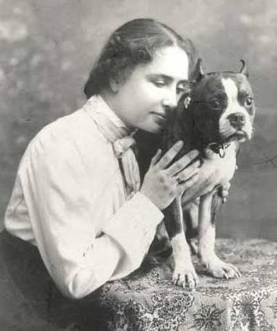 Helen Keller y su adorado gato Felix / Helen Keller & her belived cat Felix