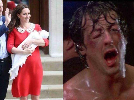 Kate Middleton después de dar a luz vs. Yo después de dar a luz / Kate Middleton after giving birth vs. Me after giving birth